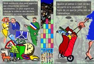 recyclage des ordures ménagères (borne pour la cité des sciences)