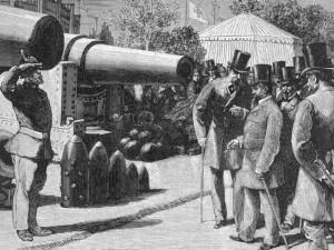 Napoléon III devant les canons Krupp
