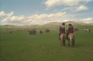 Les steppes de Mongolie