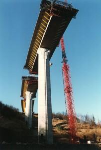 construction du viaduc de Piou