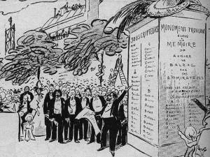 Caricature de la souscription pour le monument Balzac