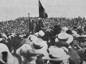 Jaurès parlant au Pré Saint Gervais en 1912