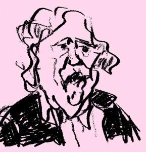caricature de Michel Simon par Jérôme Lefranc