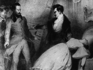 Antony, d'Alexandre Dumas. Bocage et Marie Dorval dans la scène finale