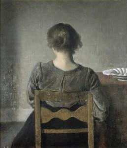 Jeune femme ou le repos de HammershoÏ - Musée d'Orsay