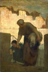 La blanchisseuse de Honoré Daumier - Musée d'Orsay
