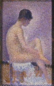 La Poseuse de profil de Georges Seurat - Musée d'Orsay