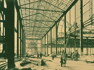 Exposition universelle de 1878, photo de la construction