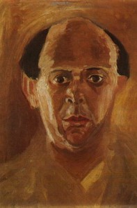 Autoportrait d'Arnold Schönberg (collection Lisa Jalowetz Aronson)