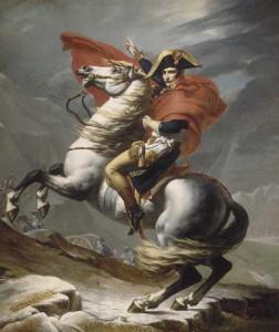 Bonaparte franchissant les Alpes de Jacques-Louis David - Musée du Louvre