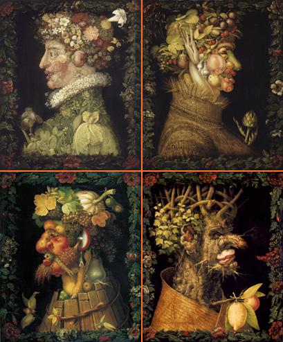 tableau 4 saisons peinture