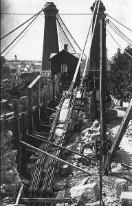 chantier du pont du Niagara - 1851
