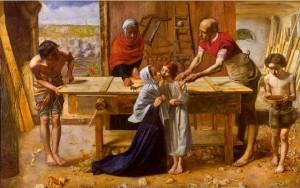 John Everett Millais, Le Christ dans la maison de ses parents, 1849, Londres, Tate Gallery