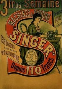 Publicité pour la machine à coudre