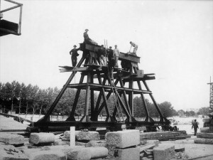 Construction du pont Alexandre III