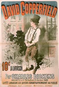 Affiche pour la parution de David Copperfield de Dickens en feuilleton