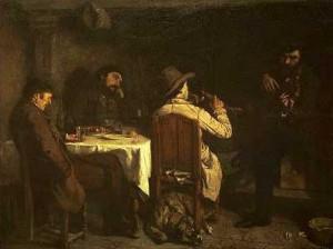 L'Après-dinée à Ornans de Gustave Courbet