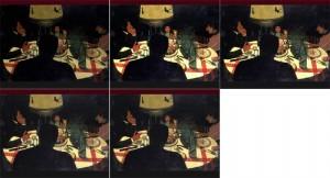 contraste - dîner effet de lampe de Vallotton