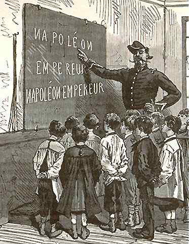 Louis-Napoléon Bonaparte empereur enseigné aux enfants