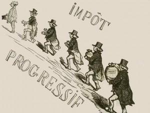 L'impôt sur le revenu - caricature