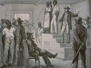 vente d'esclaves aux Etats-Unis