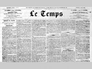 le journal Le Temps