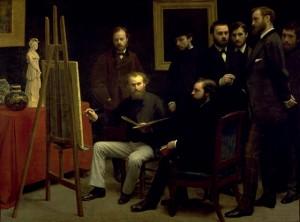 Un atelier aux Batignolles de Fantin-Latour