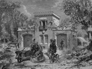 première maison en béton à Saint-Denis