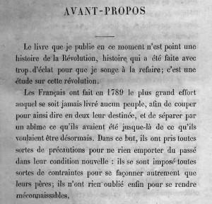 L'Ancien régime et la révolution de Tocqueville