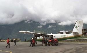 avion à Lukla au Népas