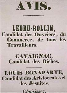 Affiche des élections de 1848