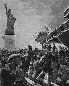 Inauguration de la statue de la Liberté à Grenelle