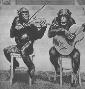 jazz-band de chimpanzés Sciences et Voyages 1923