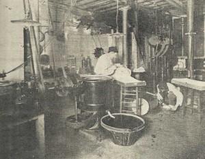 Traitement des feuilles de coca en 1924