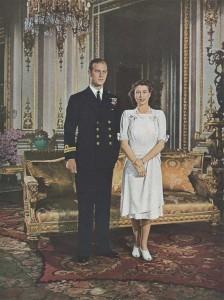 Fiançailles de SAR la princesse Élisabeth et du Lt Philippe Mountbatten - France Illustration 1947