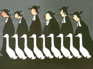 Anticléricalisme - caricature de l'Assiette au beurre