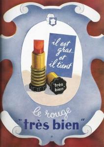 Publicité pour le rouge à lèvre Annie-France