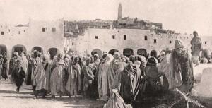 Le marché de Ghardaïa en Algérie-1930