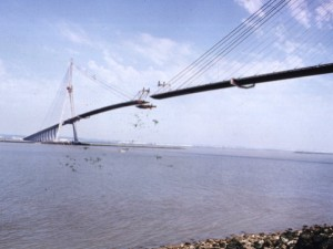 construction du pont de Normandie