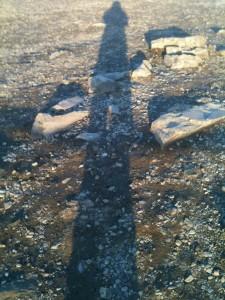 Mon ombre - Cap Nord 2 heures du matin