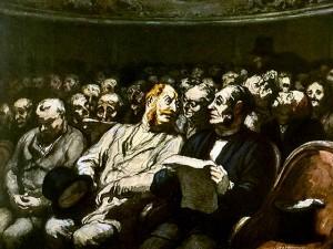 Les spectateurs de théâtre - Daumier