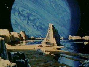 Clair de Saturne sur Triton
