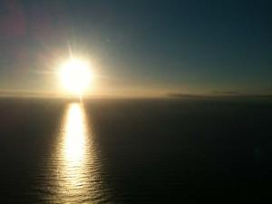 une heure du matin au Cap Nord en Norvège le 14 juin