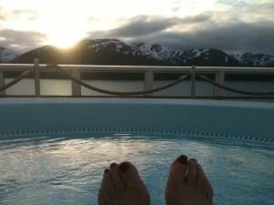 Hurtigruten - 1 h du matin dans le jacuzzi