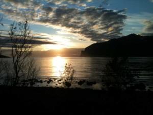 minuit sur l'île de Senja