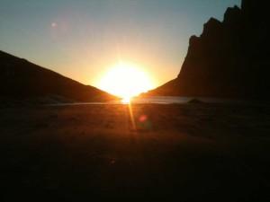 une heure du matin sur la fameuse plage de Aussoden