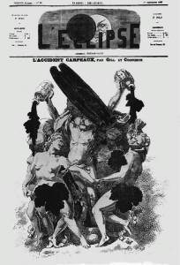 La Danse de Carpeaux aspergée d'encre en 1869