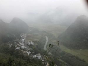 Village Buyi, près de la rivière