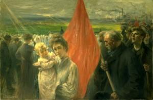 Grève à Saint Ouen, tableau de Delance