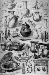 Le trésor de Priam, découvert par M.Schliemann  sur l'emplacement de l'ancienne Troie